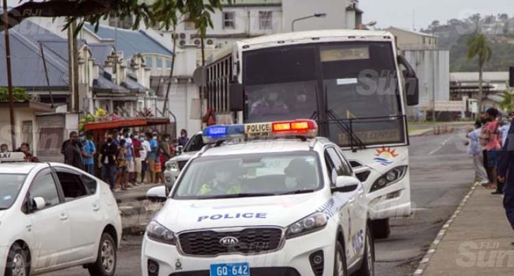 Three Companies, Fourteen Buses Take Displaced Fijians Home