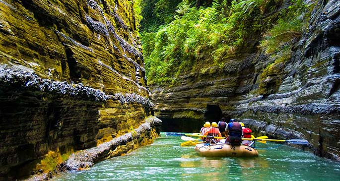 Rivers Fiji offer river rafting rafting on the upper Navua Gorge.