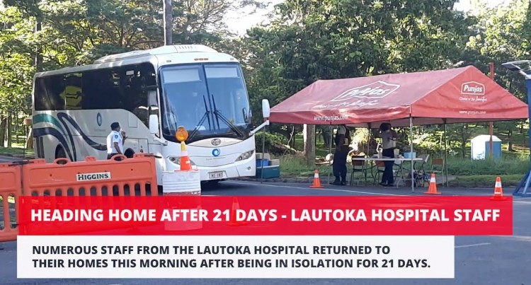 Heading Home After 21 Days – Lautoka Hospital Staff