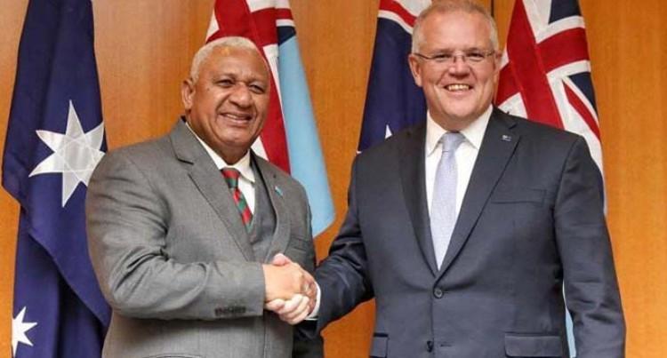 Prime Minister Bainimarama Conveys Appreciation To PM Morrison For Australian Support