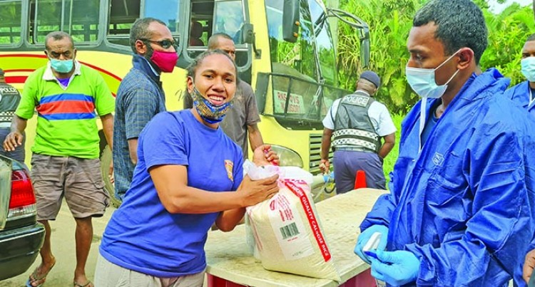 Women Reps Receive Rations At The Border