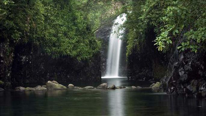 Biausevu waterfall in Nadroga.