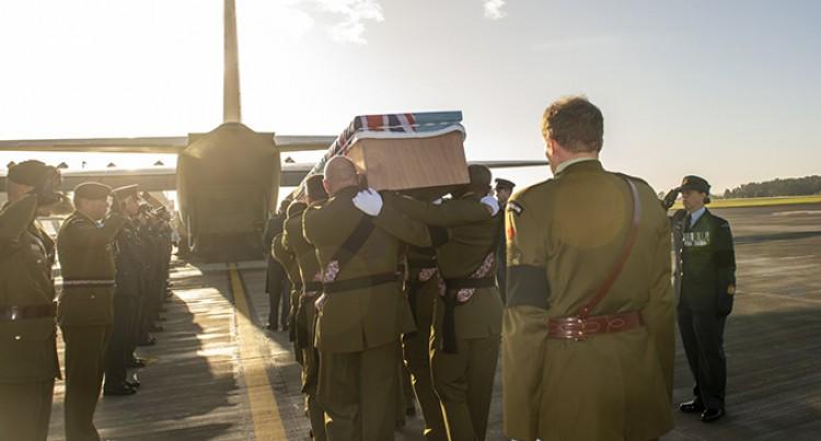 NZDF Help Return Fallen Peacekeeper, WO1 Vatoga Home