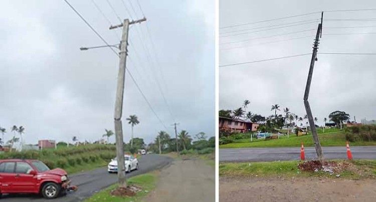Vehicle Accident with an EFL Power Pole Causes Power Disruption – Fletcher Road, Vatuwaqa