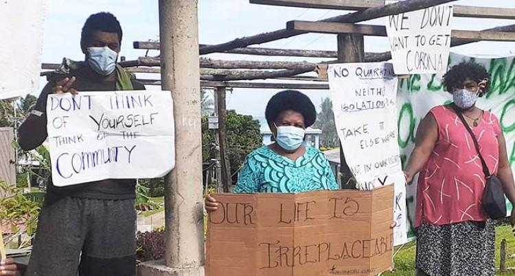Protest Against Coral Coast Quarantine Facilities Request
