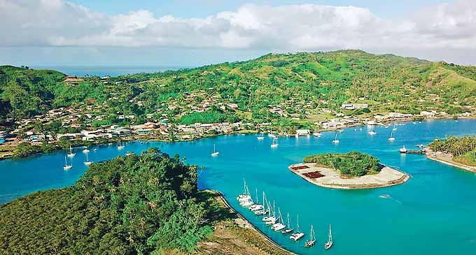 Savusavu Bay & Town.
