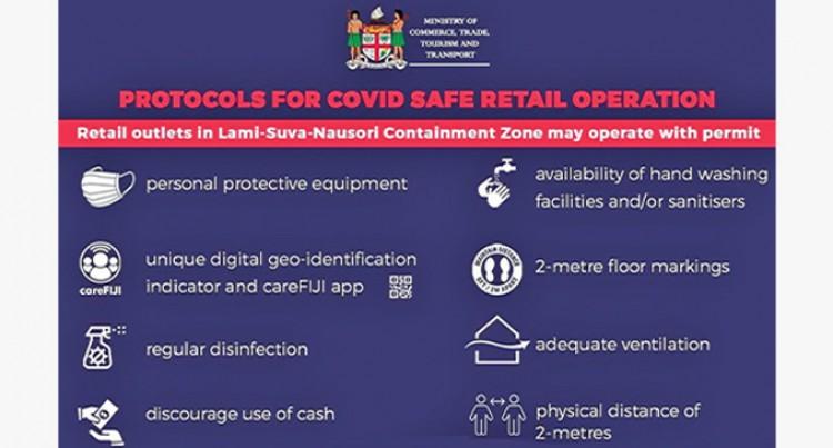 Retail Businesses In Lami, Suva, Nausori Corridor Can Now Operate: Koya