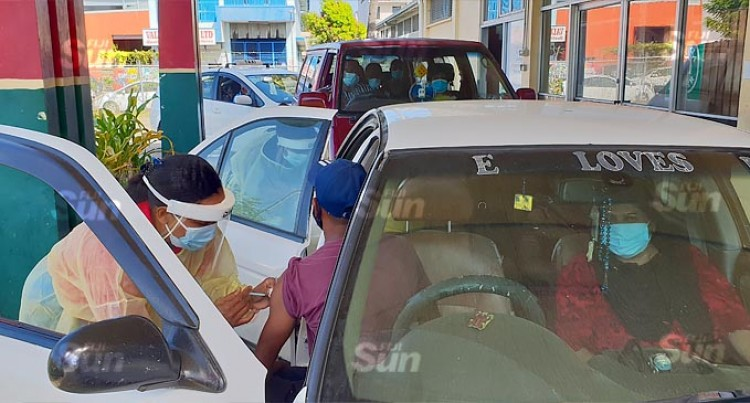 Good Turnout For Lautoka's First Vaccination Drive-Through