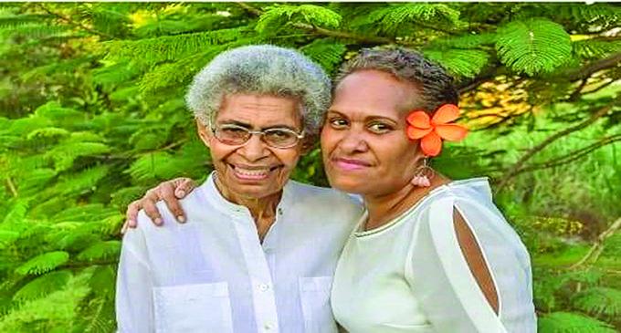 Rebecca Kubunavanua (right) with her mother, Akeneta Kubunavanua