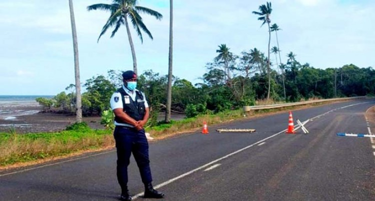 Police Officers Manning Checkpoints, Monitoring Movement Within Nabouwalu For The Next 14 Days