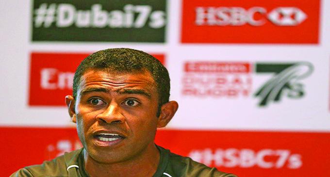 Fijian 7s team strength and conditioning coach, Naca Cawanibuka.