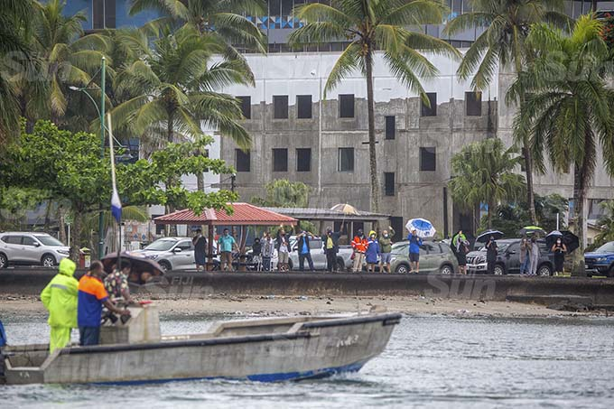 Members of the public farewelled Captain Jonathan Smith at the Suva harbour on August 16 2021. Photo: Leon Lord