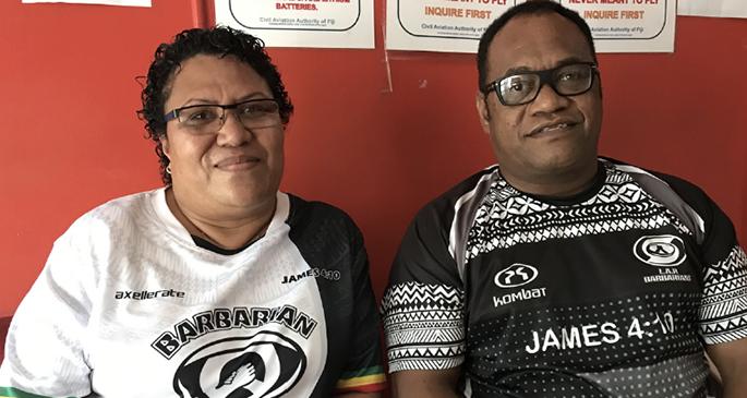 Sireli Maqala's parents Sisa and Rosa Ramuadrau in Labasa on July 29, 2021. Photo: Laisa Lui
