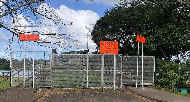 Fiji Roads Authority: The Old Rewa Bridge Out Of Bound