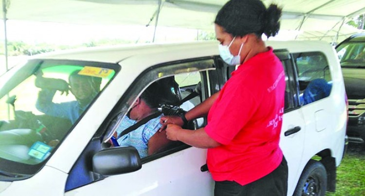 Vaccination Drive-Through At Subrail Park Starts Slow