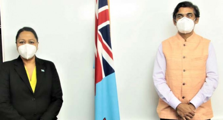 Minister Premila Kumar Meets The New Indian High Commissioner To Fiji