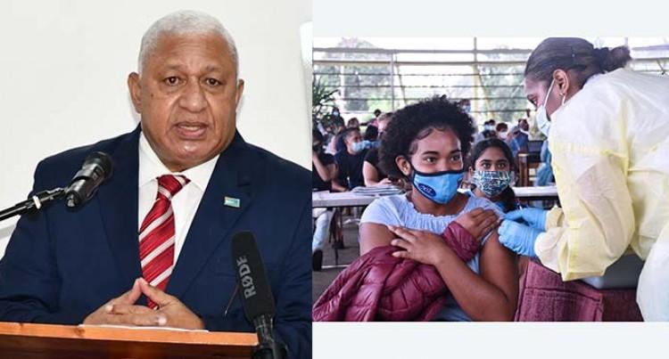 PM Bainimarama Launches Schools Vaccination Program Rollout Of The Moderna Vaccine