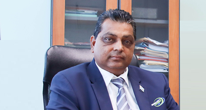 Biosecurity Authority of Fiji acting chief executive officer Surend Pratap at his office in Suva, on September 10, 2021.