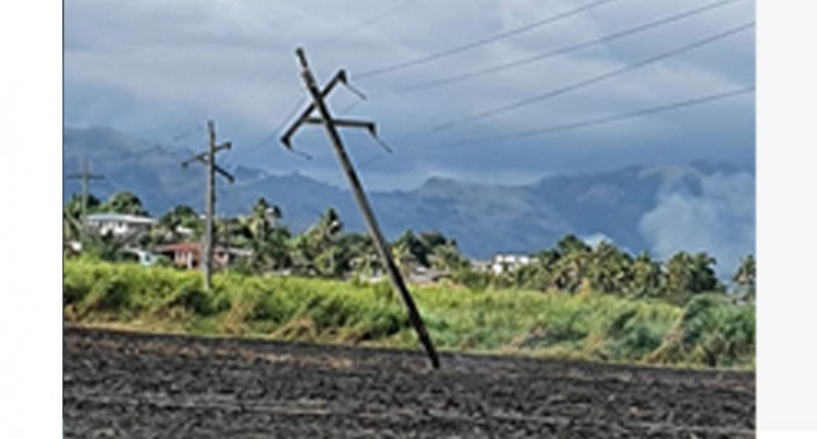 Power Outage Due To Burnt Electric Power Pole