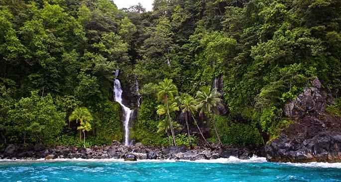 Waterfall in Taveuni Island.