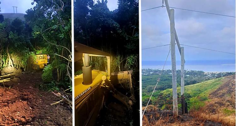 Unplanned Power Shutdown – Bush Fire Burns Electric Power Poles