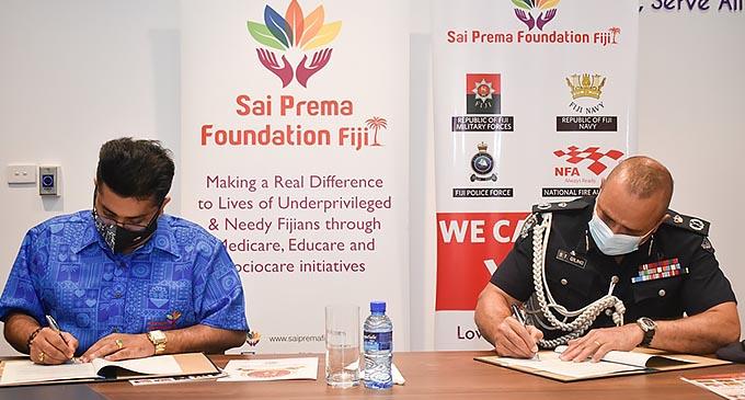 SPF & FPF Signing - Brigadier General Sitiveni Qiliho & Sumeet Tappoo