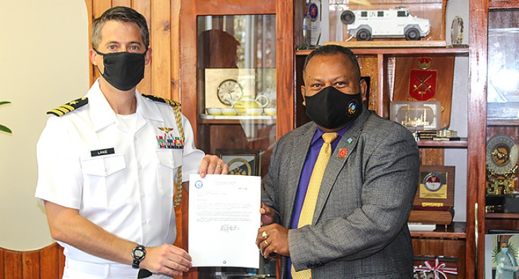 The United States Defense Attaché Visits Fiji's Minister of Defense
