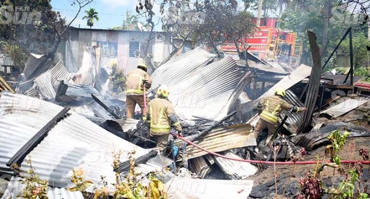 Morning Blaze Destroys Homes At Gaji Road
