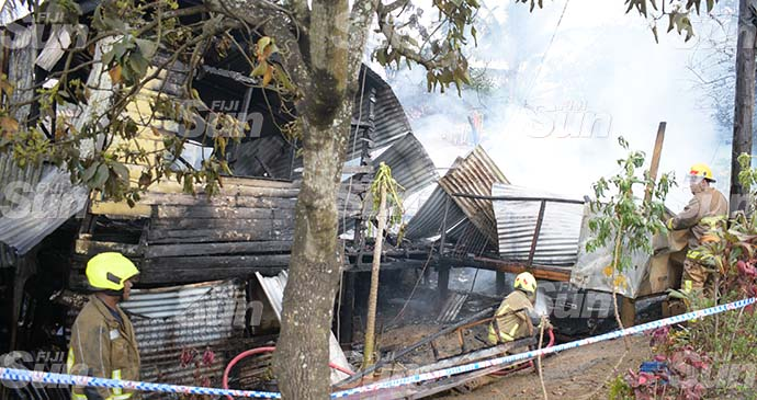 Tevita Poese's home was completely destroyed in the fire last week. Photo: Ronald Kumar