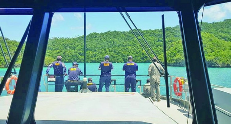 Navy, Customs Officers Conduct Maritime Security Patrol