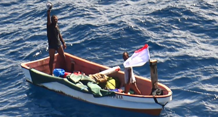 RNZAF Orion Crew Find Missing Kiribati Sailors