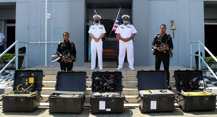 The United States Distributes Dive Equipment Funded By The Foreign Military Finance Program